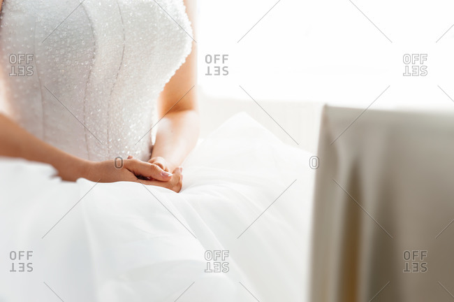 Bride sitting in patient anticipation
