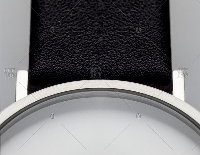 Close up of a watch on white background