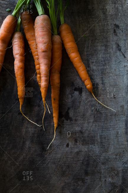 Fresh heirloom carrots