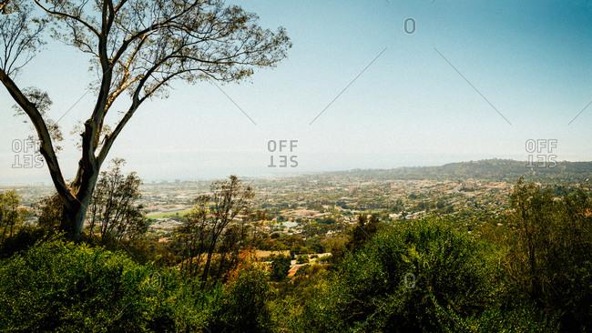 Panorama of Santa Ynez Mountains, California