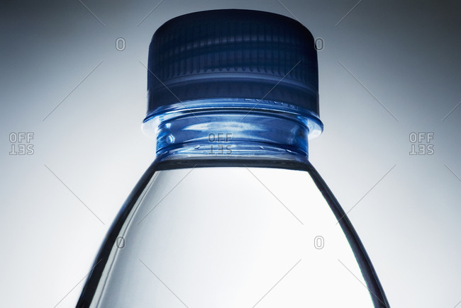 Close-up of water bottle and cap