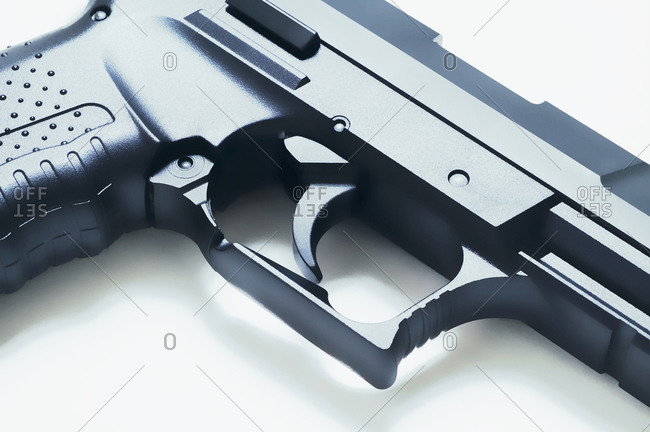 Close-up of trigger on a handgun