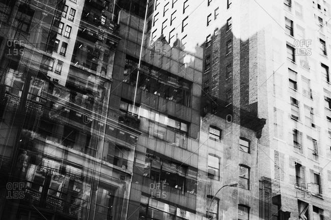 Multiple exposure of building facades