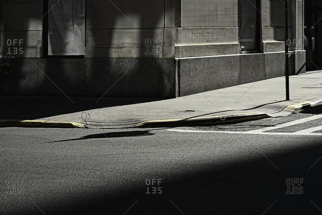 Shadowed road