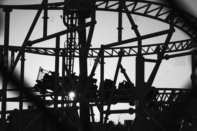 Silhouette roller coaster