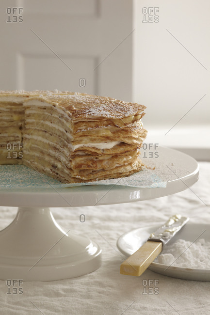 Crepe cake with buttercream filling