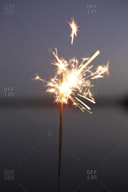 Close up of a sparkler at night