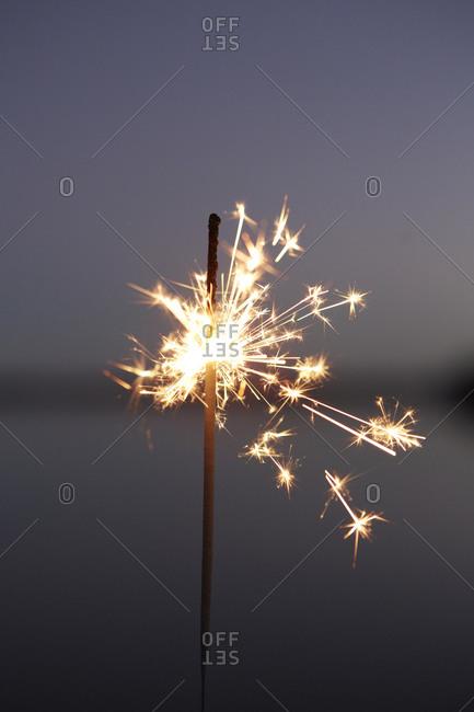Close up of a burning sparkler