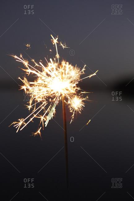 Close up of a lit sparkler