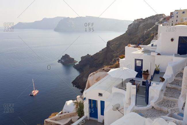 The village of Oia Santorini, Greece