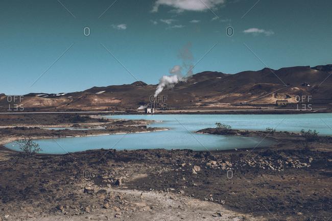 Volcanic lagoon, Iceland