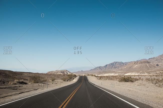 Road through the desert, Death Valley, California