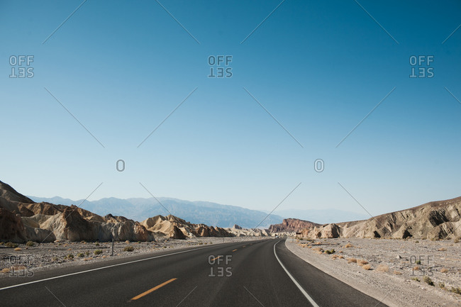 Road through the desert, Death Valley, California