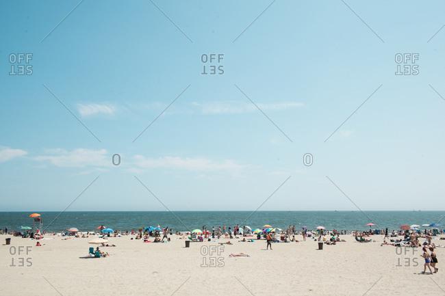 People at the beach, Rockaway, New York