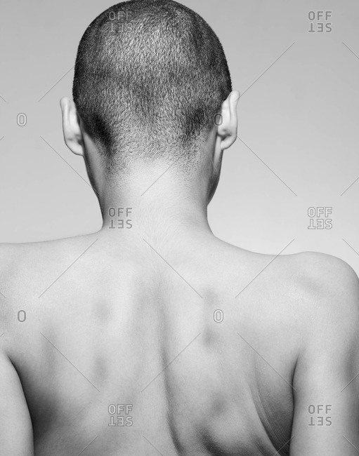 Back view of person