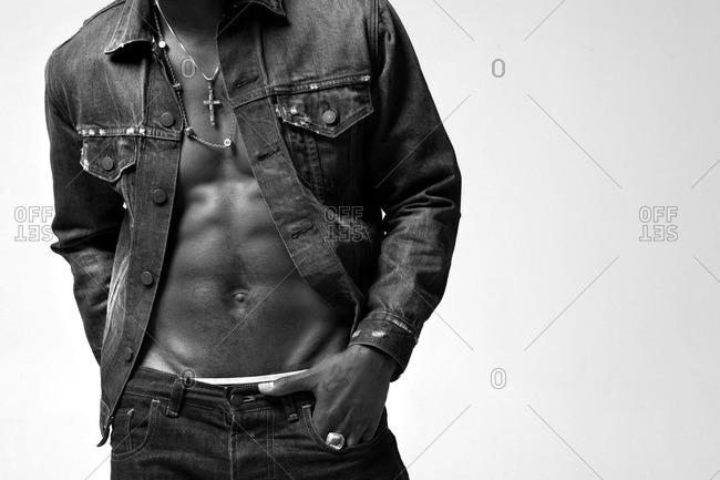 Man in jean jacket
