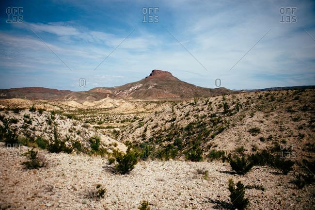 Mountains in a Texan desert in Lajitas