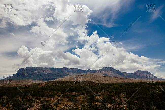 Clouds over mountains in Texas, USA