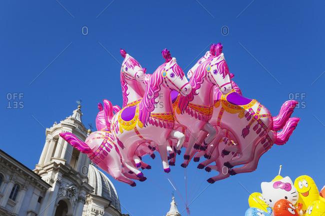 Sant Agnese in Agone, Christmas market, Balloons, Rome