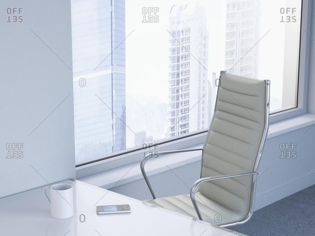 Workspace in a modern office, 3D Rendering