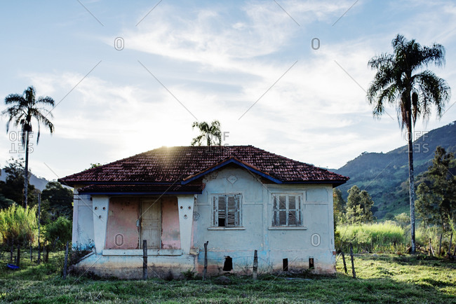 Neglected building in the Brazilian countryside, in Goncalves