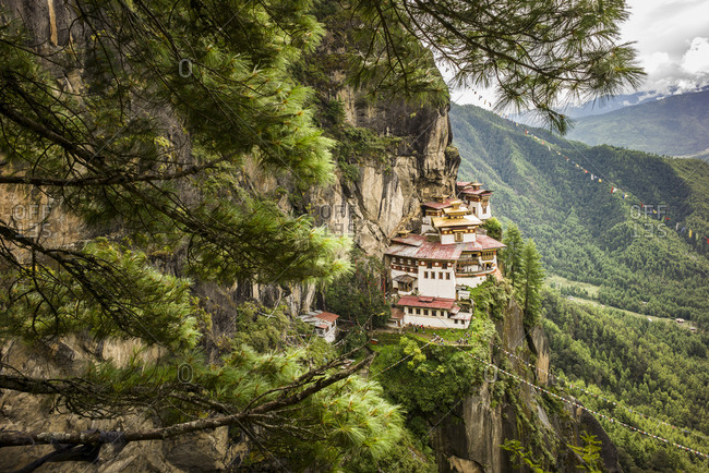 View of the Tiger's Nest in Bhutan