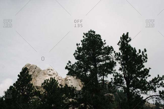 View of Mount Rushmore National Memorial, USA
