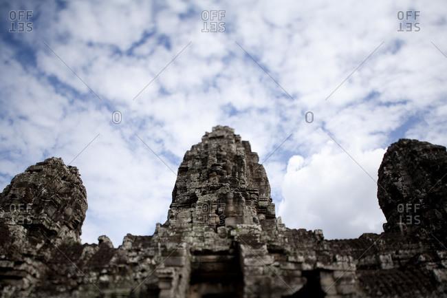 Low angle view Angkor Wat, Angkor, Cambodia