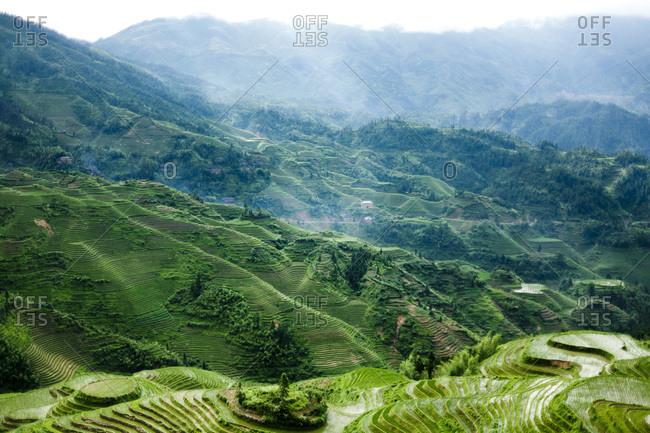 Landscape of rural Longsheng, China