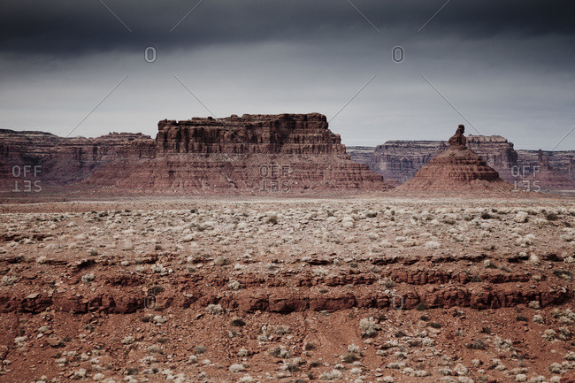 Sandstone mountains in Valley of the Gods, Utah