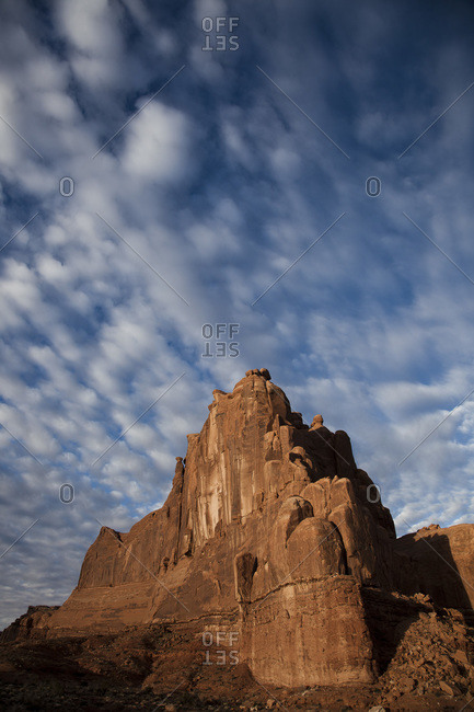 Sandstone mountain in Arches National Park, Utah