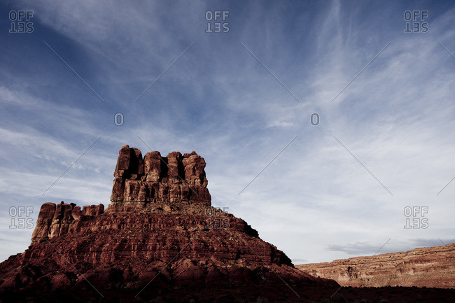 Sandstone rock formation in the Valley of the Gods, Utah