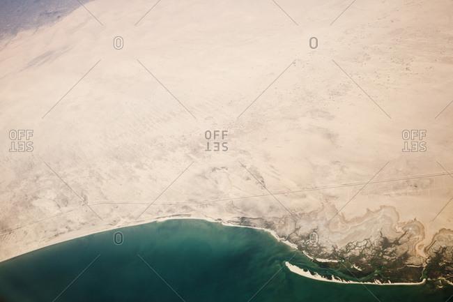 Aerial view of the coast of Baja California, Mexico
