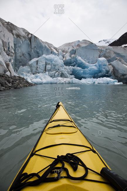 Canoeing in Glacier Bay National Park, Alaska