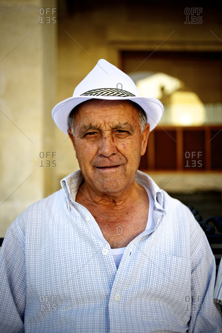 Ronda, Andalucia, Spain - August 18, 2014: Portrait of an Andalusian man