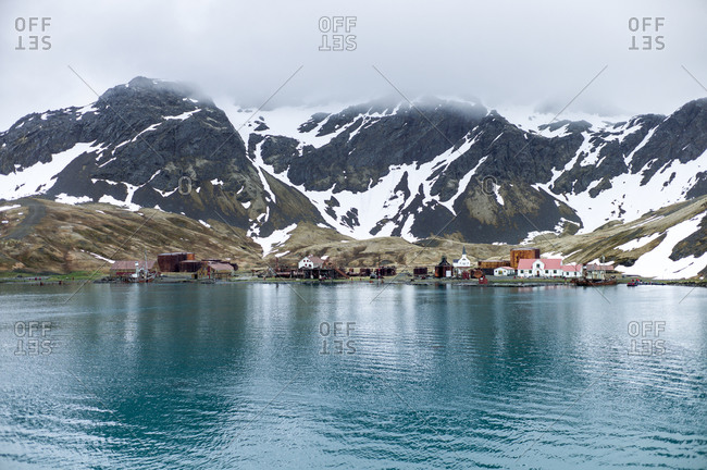 The town of Grytviken in South Georgia, South Atlantic