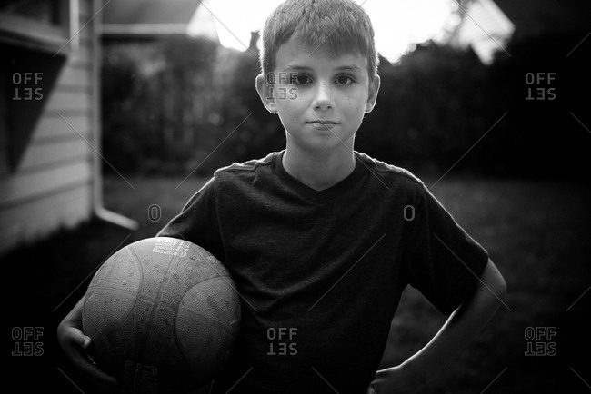 Boy with basketball - Offset Collection