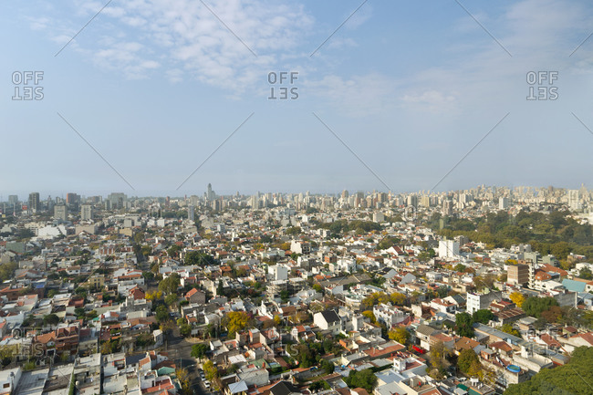 Aerial view of Saavedra neighborhood of Buenos Aires, Argentina