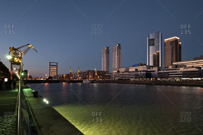 Puerto Madero at night, Buenos Aires, Argentina