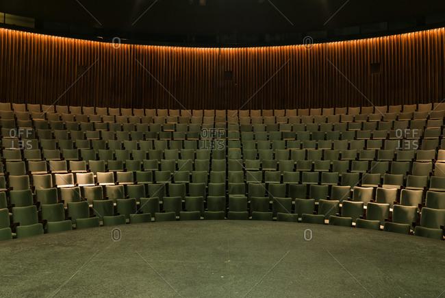 The empty auditorium of Teatro General San Martin, Buenos Aires, Argenita