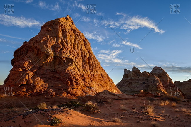 Butte at first light, Coyote Buttes Wilderness, Vermilion Cliffs National Monument, Arizona