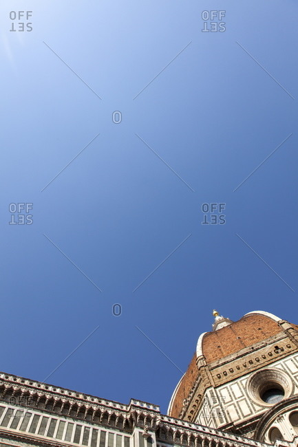 The Dome of Santa Maria del Fiore and blue sky, Florence
