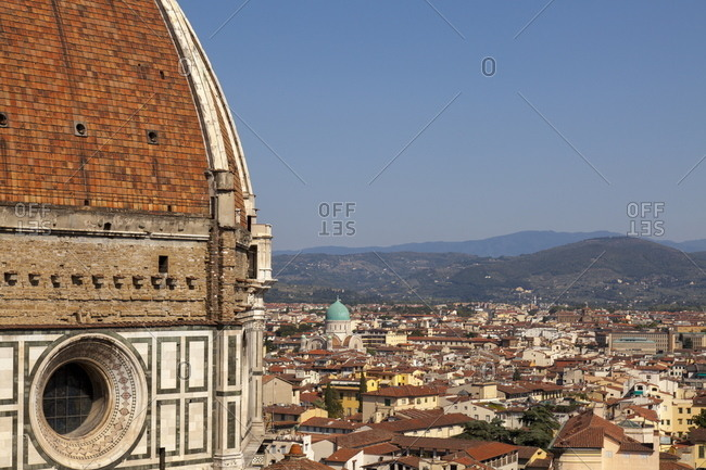 The Dome of  Santa Maria del Fiore and roof tops, Florence