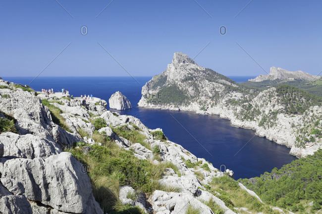 Viewpoint Mirador d' Es Colomer (Mal de Pas), Cap de Formentor, Cape Formentor, Majorca (Mallorca), Balearic Islands (Islas Baleares), Spain