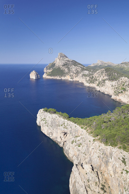 Cap de Formentor (Cape de Formentor), El Colomer Island, Majorca (Mallorca), Balearic Islands (Islas Baleares), Spain