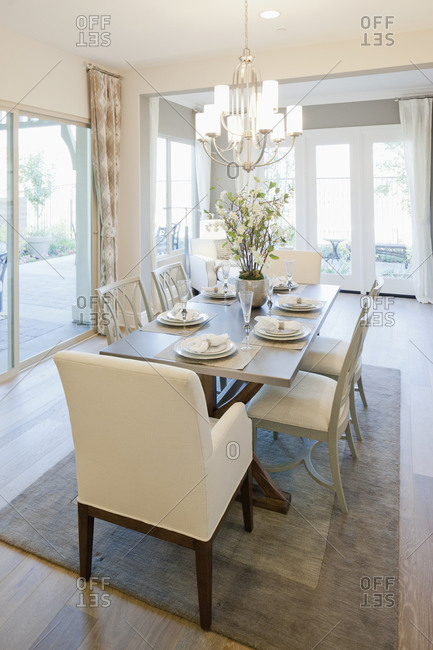 View of dining area, Rancho Mission Viejo, California, USA