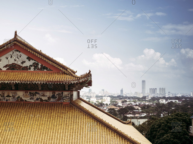 View of George Town from the Kek Lok Si Temple, Air Itam, Penang, Malaysia