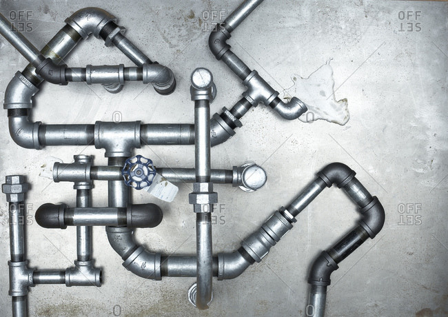 Close up of water pipes