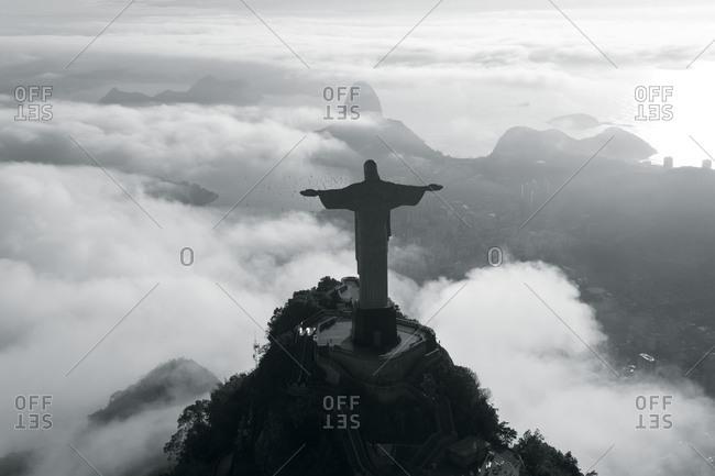 Rio de Janeiro, Brazil - December 5, 2011: The statue of Christ the Redeemer atop Corcovado Mountain, Rio de Janeiro