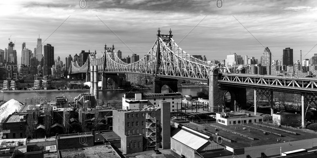 View of the Queensboro Bridge in New York City, USA